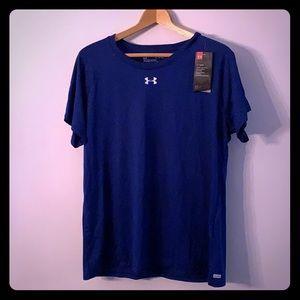 Women's under armour blue worn out shirt